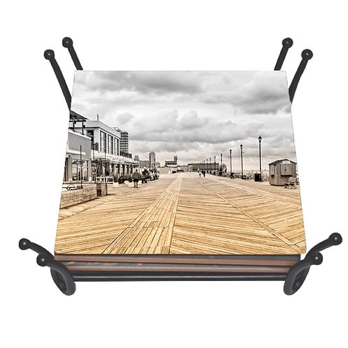 Asbury Boardwalk Dual Tone Coaster