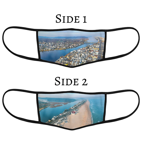 Reversible 3-Layer Face Mask - Sea Bright
