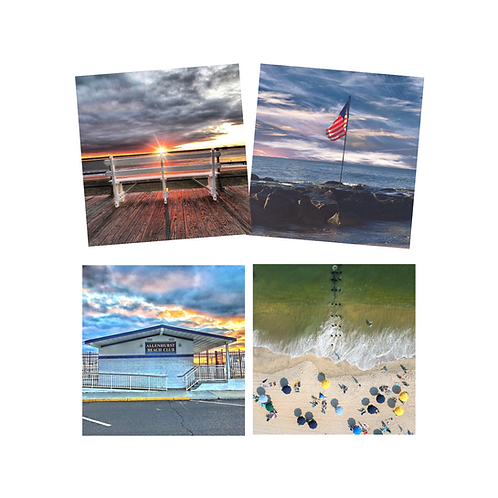 Allenhurst Beach Club Coaster Set of 4