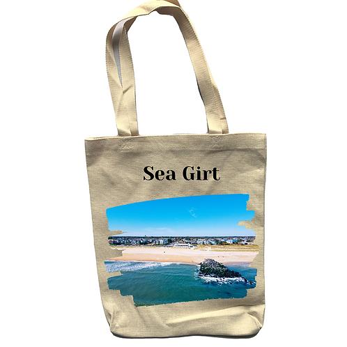 Sea Girt Linen Tote Bag - Double Sided