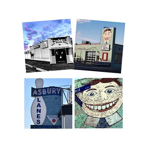 Asbury Park Rock n Roll Coaster Set of 4