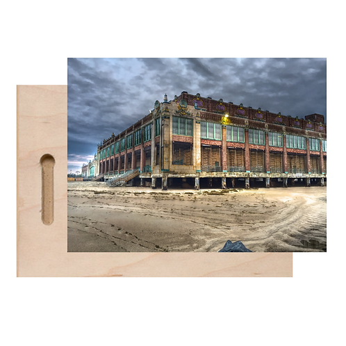 Asbury Park Convention Hall Print On Wood