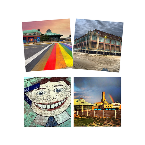 Asbury Park Rainbow Coaster Set of 4