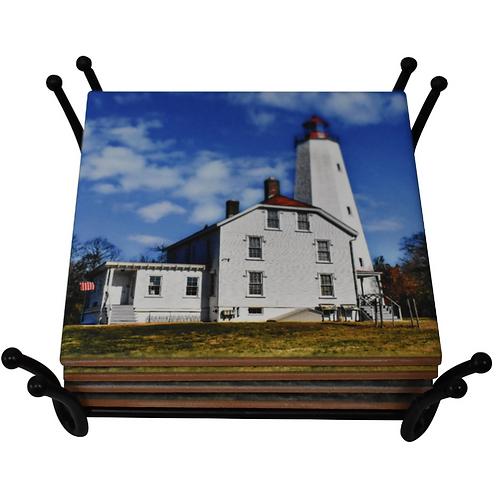 Sandy Hook Lighthouse Coaster
