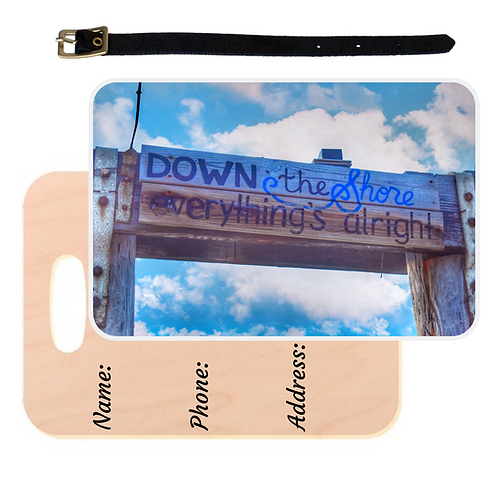 Down The Shore Luggage Tag