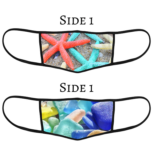 Reversible 3-Layer Face Mask - Beach Vibes