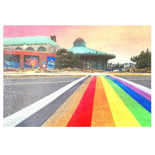 Rainbow Walkway Cutting Board