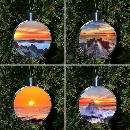 Ball Ornament - Beach Set of 4