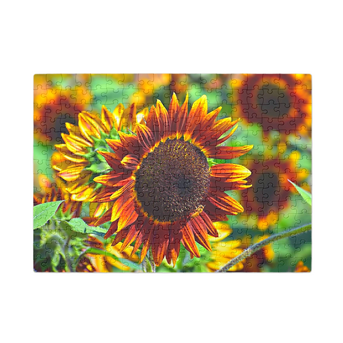 Puzzle & A Print: Sunflower Fields