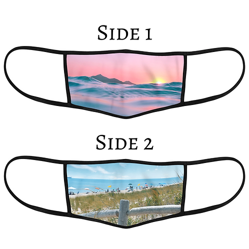 Reversible 3-Layer Face Mask - Summer Sun