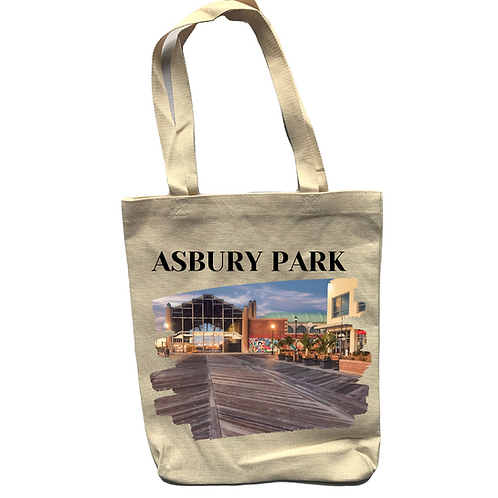 Asbury Park Casino Linen Tote Bag - Double Sided