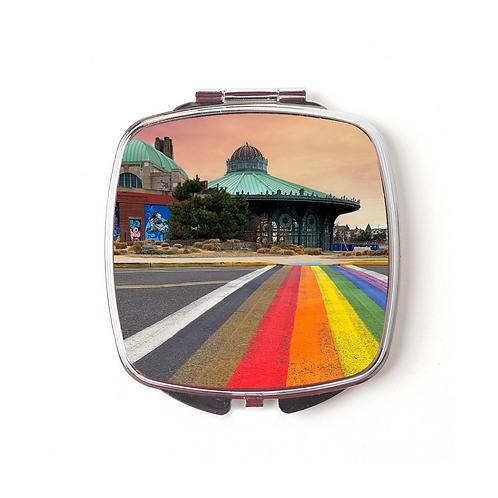 Rainbow Walkway Compact Mirror