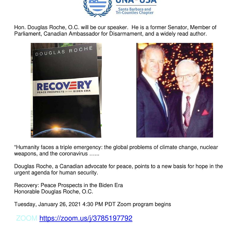 Recovery: Peace Prospects in the Biden Era
