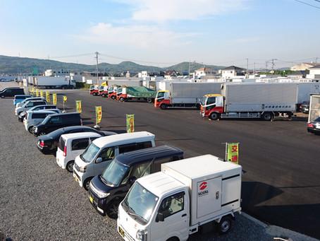 本社側駐車場の舗装が完成しました。