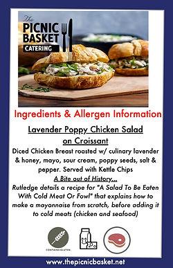 Lavender Poppy Chicken Salad  on Croissa