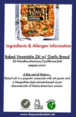 Baked Vegetable Ziti w: Garlic Bread.jpe