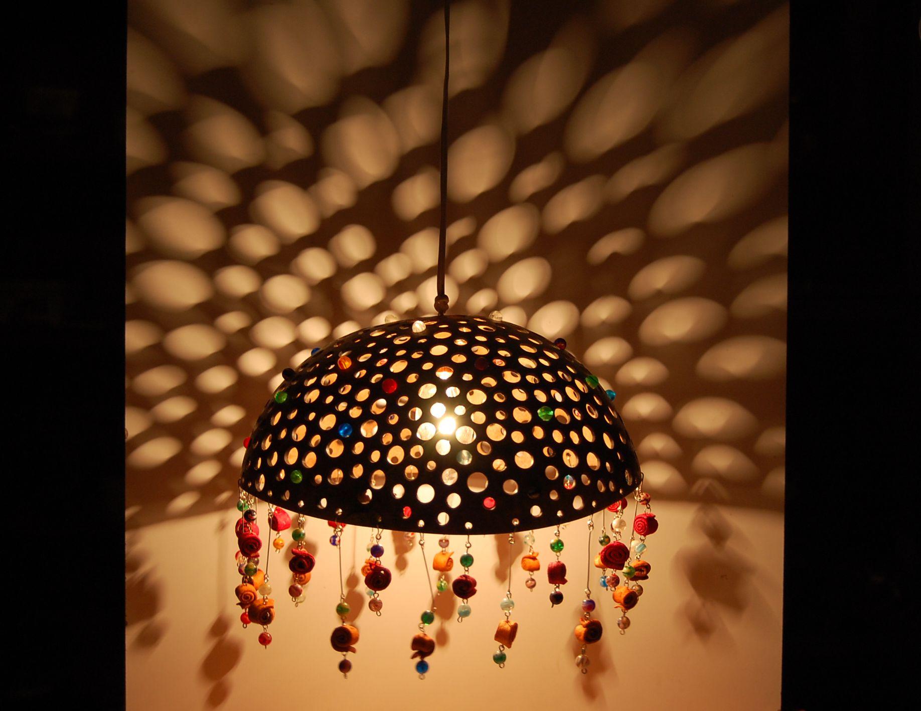 Lámpara en totumo