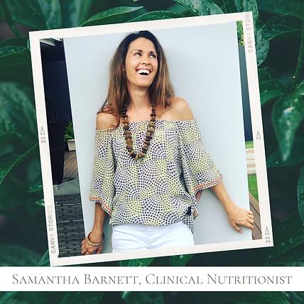 Samantha Barnett, Clinical Nutritionist