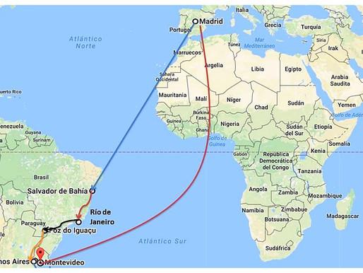 Planificación, hoteles y presupuesto de nuestro viaje a Brasil, Argentina y Uruguay.