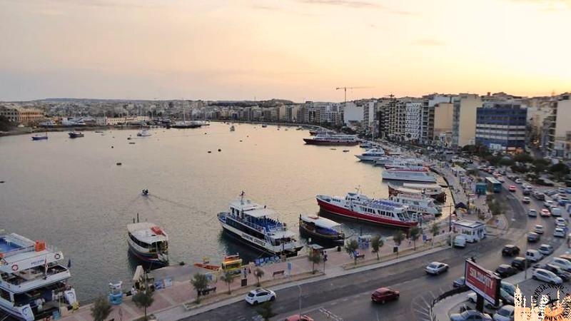 Puerto marítimo Sliema (desde habitación hotel)
