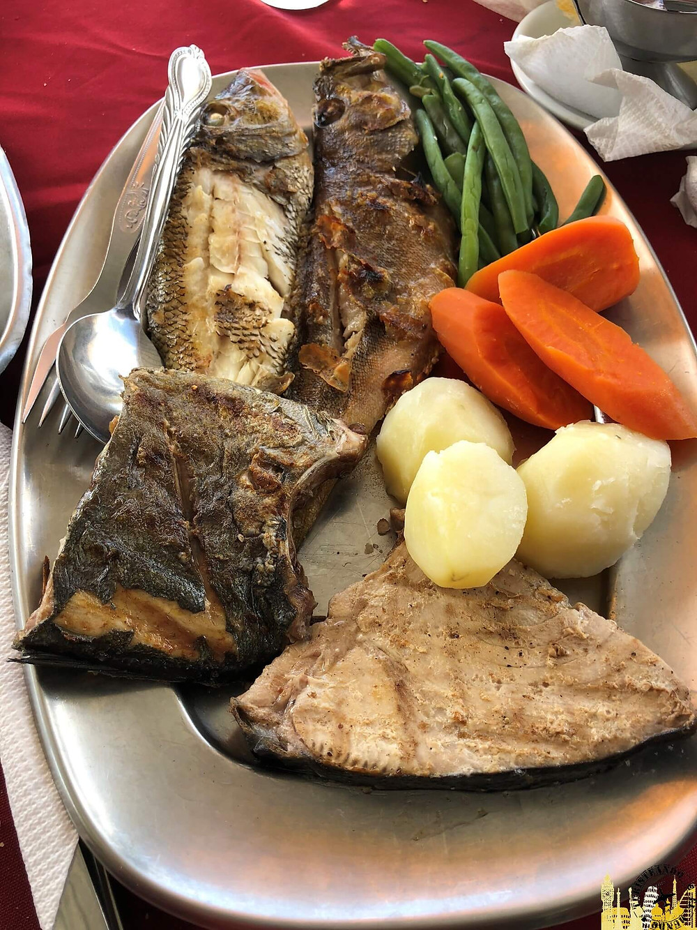 Cabo Verde. Grillada de pescados