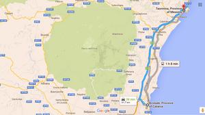 Ruta Acireale-Taormina (Sicilia, Italia)