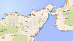 Ruta Taormina-Messina (Sicilia-Italia)