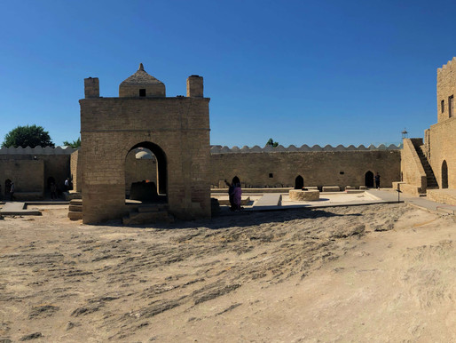 Atesthgah, el templo de los adoradores del fuego (Unesco). Azerbaiyán