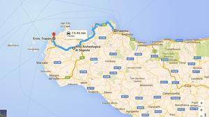 Ruta Palermo-Erice (Sicilia, Italia)