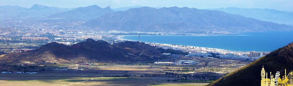 Vistas desde mirador de Mojácar (Almería). España