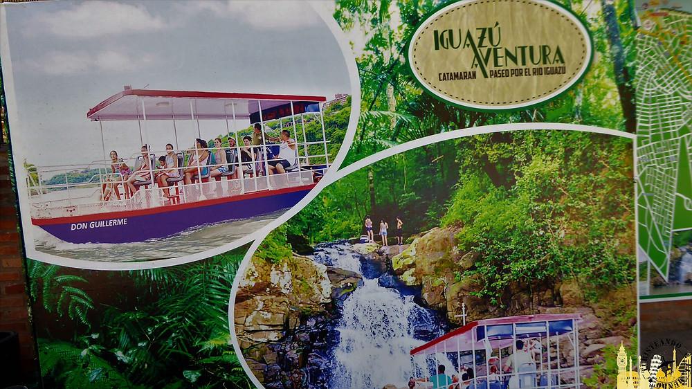 Publicidad catamarán. Puerto Iguazú (Argentina)