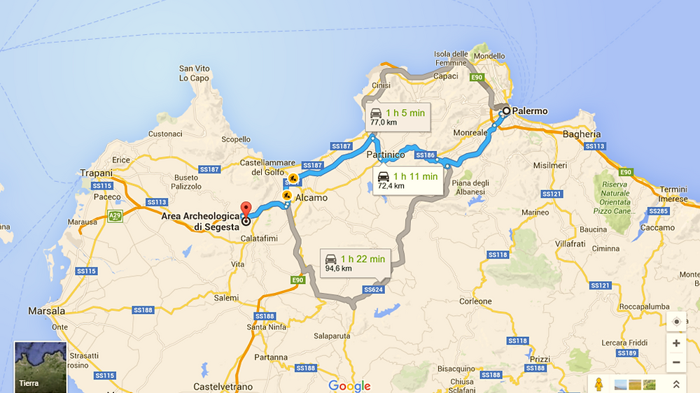 Ruta Palermo-Segesta (Sicilia, Italia)