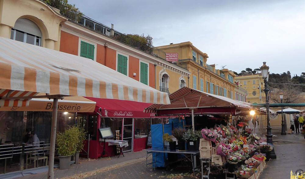 Mercado de las flores, Niza (Francia)