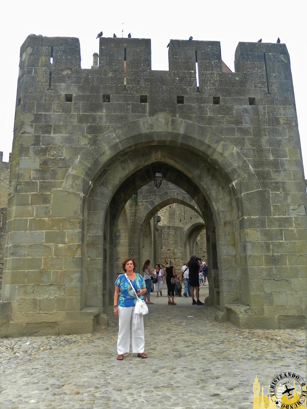 Puerta Narbona. Ciudadela medieval. Carcassonne (Francia)