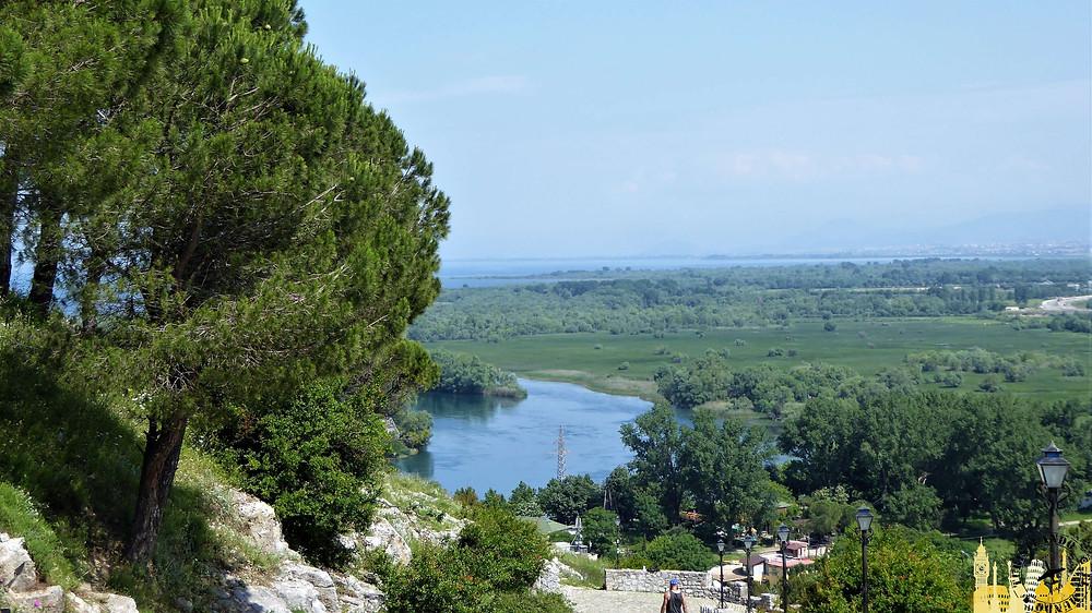 Vistas desde Castillo de Ruzafa. Shkoder (Albania)
