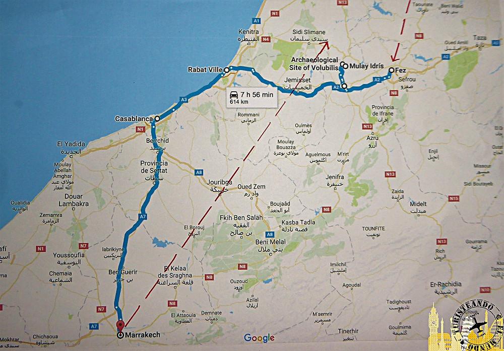Ruta por Marruecos en tren