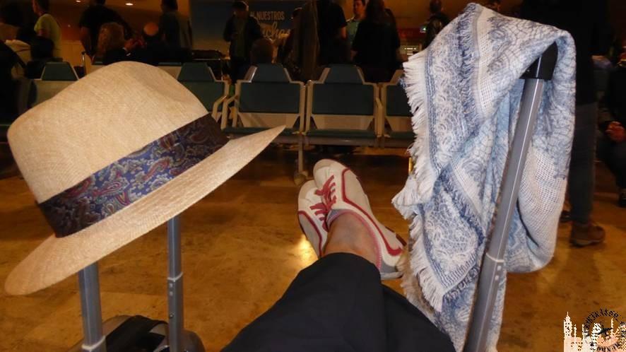 Esperando en el aeropuerto de Madrid