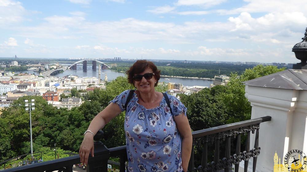 Vistas desde Iglesia de San Andrés, Kiev (Ucrania)