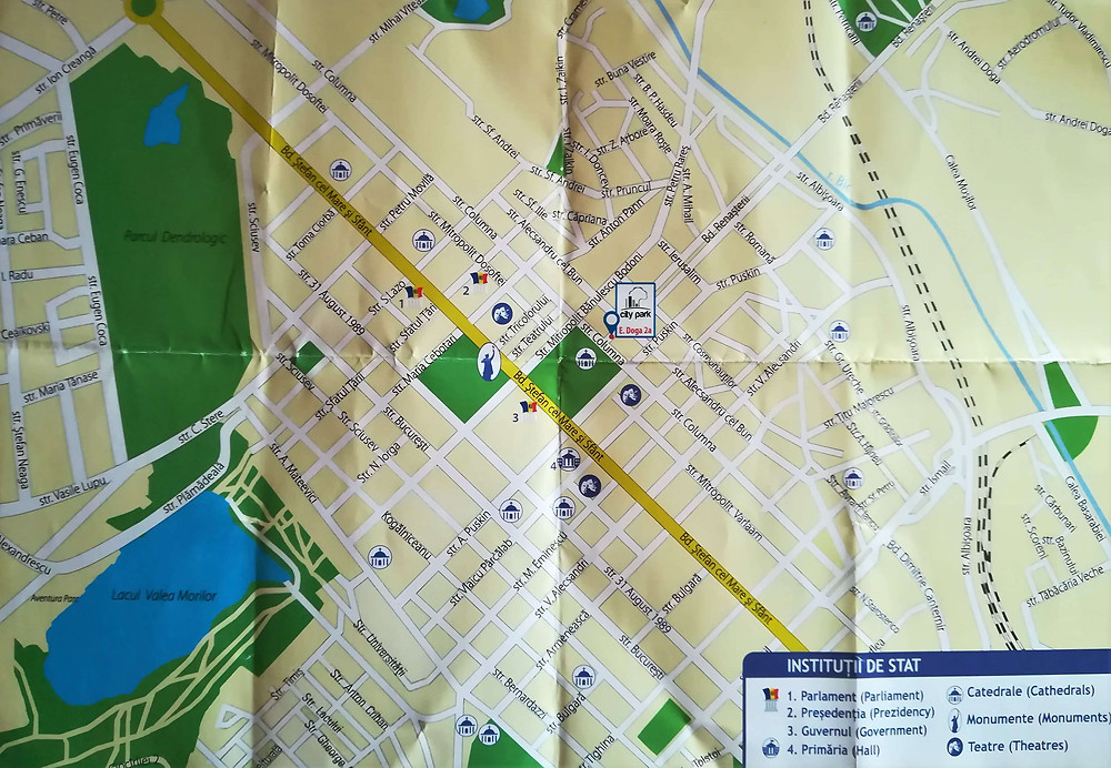 Mapa de Chisinau, Moldavia
