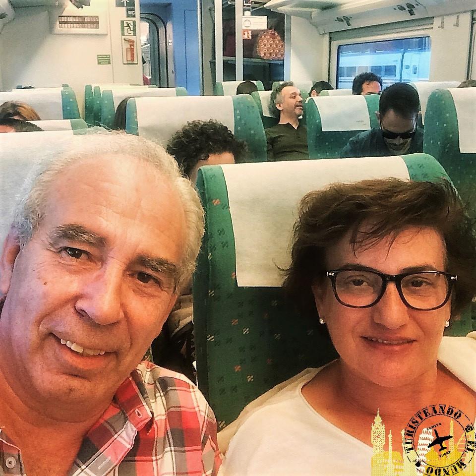 Viaje en tren a Ourense (Galicia)