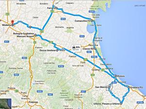 Ruta Italia-San Marino