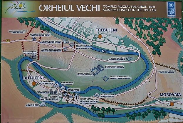 Mapa de Orhei Vechi, Moldavia