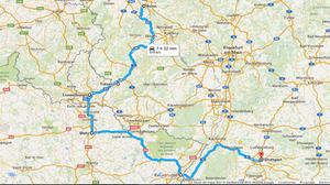 Plano de la ruta del viaje