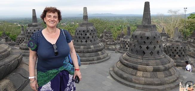 Terraza superior Templo de Borobudur (Java)