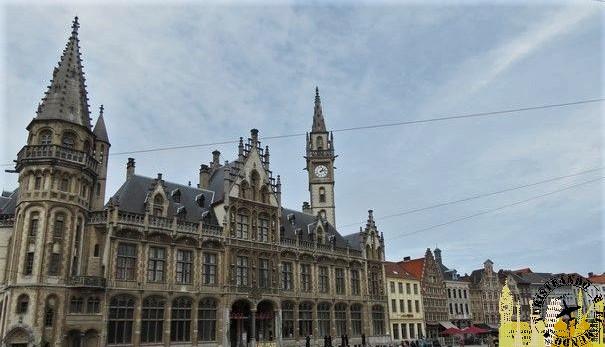 Plaza del Mercado del Maíz (Gante). Bélgica