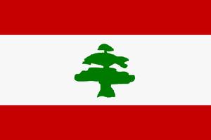 Líbano. Bandera