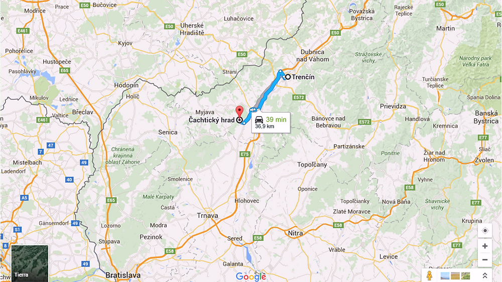 Ruta a Cachtice (Eslovaquia)