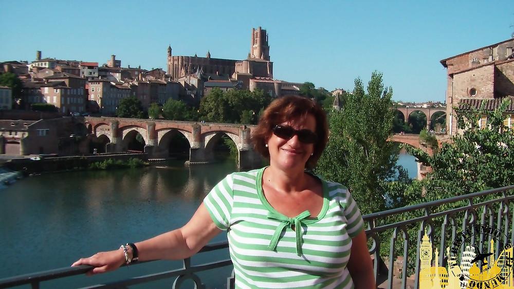 Vistas de Albí desde el Hotel Mercure (Francia)