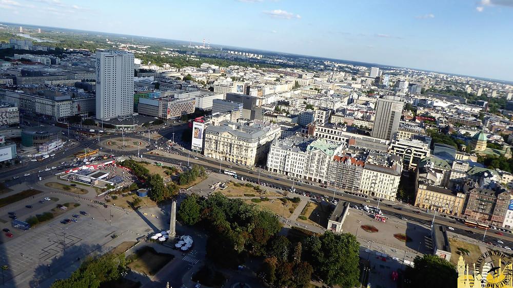 Vistas desde el Palacio de Cultura y las Ciencias, Varsovia (Polonia)