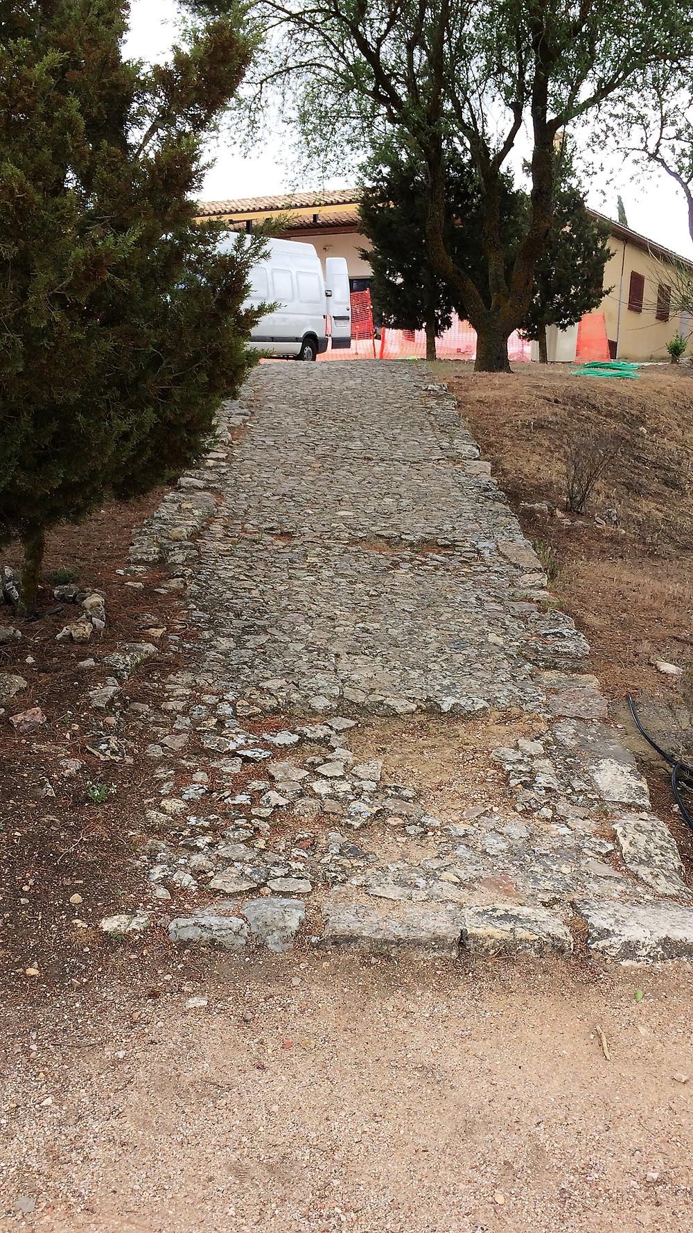 Segóbriga (Cuenca). España. Calzada romana